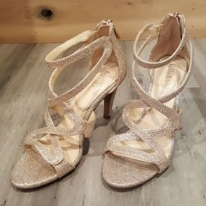 Kelly and Katie gold wedding sandal heels shoes